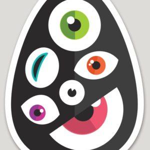 Vinyl Die Cut Egg Logo Sticker